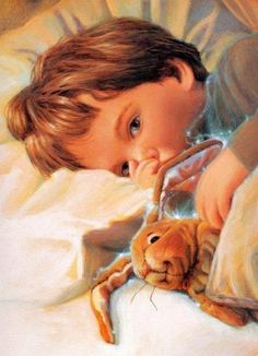 Bunny Art, Baby Kind, Children's Book Illustration, Belle Photo, Vintage Children, Cute Art, Painting & Drawing, Vintage Art, Illustrators