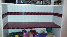 Flooring and walls..bookcase doll house.. $.99 store duct tape