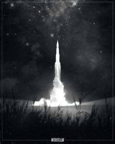 film noir style design of movie posters interstellar