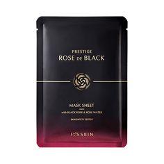 PRESTIGE Rose De Black Mask Sheet by It's Skin, 23ml