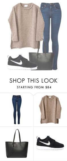 """""""Outfit #1276"""" by sofiaabaarona1998 on Polyvore featuring moda, Yves Saint Laurent y NIKE"""