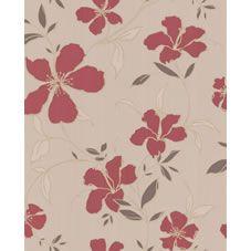 S Fresco Easy Rapture Red/Beige Wpaper