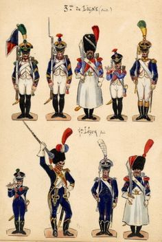 Empire, Napoleonic Wars, Strasbourg, Soldiers, Watercolor, History, Toys, Paper, Image