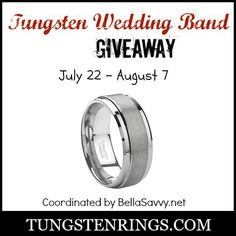 Giveaway- Tungsten Rings