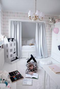 House of Philia Big Boy Bedrooms, Boys Bedroom Decor, Little Girl Rooms, Girls Bedroom, House Of Philia, Creative Kids Rooms, Bed Nook, Fantasy Bedroom, Small Room Design