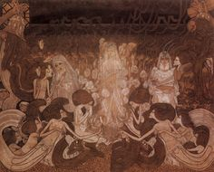 Jan Toorop was a very diverse artist, best known for his works that are in the style of Art Nouveau. Art Nouveau, Art And Illustration, Henri Matisse, Museum, Dutch Painters, Post Impressionism, Dutch Artists, Art Database, Gustav Klimt
