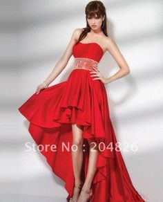 I really love the dresses that are short in the front and long in the back.