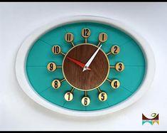 "Mid Century Modern Mod Clock ""Number 401"""