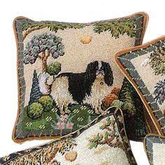 King Charles Spaniel Needlepoint Pillow