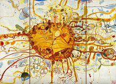 John Olsen, Sydney Sun (or King Sun) 1965 on The Spectator Australia Australian Painting, Australian Artists, Olsen, Art Reproductions, The Guardian, Contemporary Art, Abstract Art, Art Gallery, Sun