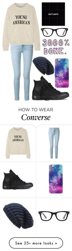 """""""I will soon forget the color of your eyes and you'll forget mine"""" by maddiebrooke25 on Polyvore featuring Frame Denim, The Elder Statesman, Converse, Ray-Ban and Phase 3"""