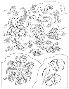 Zentangle Inspired Octopus Printable Adult Coloring Page By