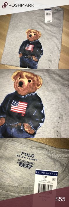 Polo Ralph Lauren Mens Limited Polo Bear T-Shirt Limited Edition shirt  Never been worn and new with tags plus receipt. Sold out on the Ralph Lauren website!  Great Price  Tags: Ralph Lauren, Polo Ralph Lauren, RL, Nautica, Tommy Hilfiger, Polo Jeans, Vintage, Vintage Ralph Lauren, Supreme, Palace, Burberry, Louis Vutton, Gucci, Cole Haan, Authentic, Air Jordan, Nike, Patagonia Polo by Ralph Lauren Shirts Tees - Short Sleeve