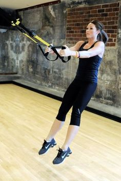 jump squats on the trx... great exercise!