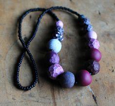 Genevieve Williamson/Jibby and Juna - Jumble necklace in Plum
