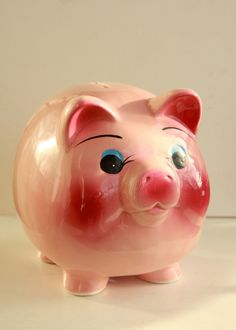Vintage piggy bank.  Your favourite piggy banks: http://www.helpmetosave.com/2012/02/piggy-bank/