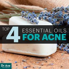 Essential oils for acne - Dr. Axe lavender, clary sage, tea tree, juniper... learn more in this article and if you want to buy www.SMBwell.com/oils