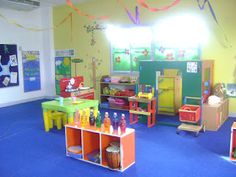 fun bright colors clean and airy my home away from home daycare setupdaycare ideasearly