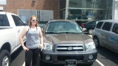 A big thanks to Megan N Prinzi for referring Shannon Johns to purchase her new Hyundai Santa Fe:). Shannon, you were great to work with and deserve this nice car!  Jay Grosman Www.TalkingCarsWithJay.com Bommarito St. Peters