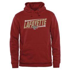 Lafayette College Leopards Double Bar Pullover Hoodie - Crimson