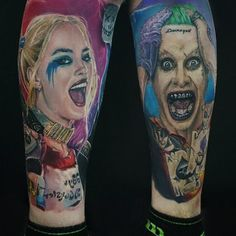 Joker and Harley Quinn Tattoo Idea