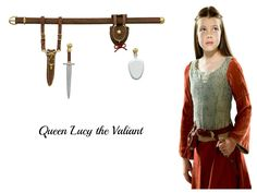 Queen Lucy the Valiant with the dagger and healing cordial Santa gave her to be used in the greatest time of need.