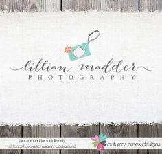 Photography Logo  Premade Logo Design  Watercolor by autumnscreek