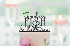 Hey, I found this really awesome Etsy listing at https://www.etsy.com/listing/231087220/wedding-cake-topper-two-less-fish-in-the