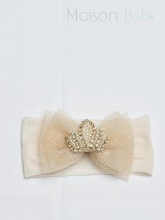 Faixa de cabelo em meia para meninas. Beautiful hair accessory for little girls