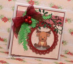 Kartka świąteczna z reniferkiem/Christmas card