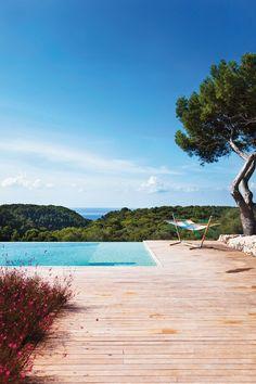 The pool at Villa Cala Binigaus, Menorca, Spain