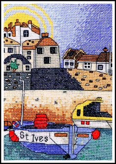 "St Ives North Harbour Cross Stitch Kit 7"" X 5"""