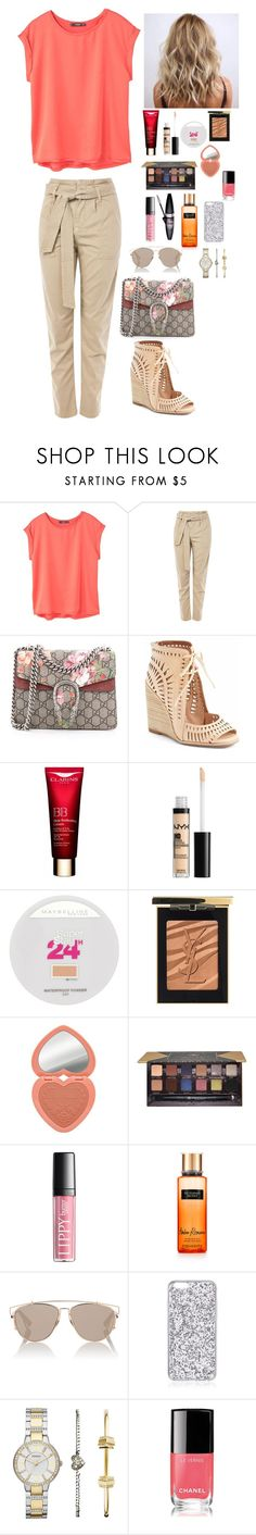 """""""Untitled #1713"""" by azra-99 on Polyvore featuring MANGO, Topshop, Gucci, Jeffrey Campbell, Maybelline, Yves Saint Laurent, Too Faced Cosmetics, Anastasia Beverly Hills, Victoria's Secret and Christian Dior"""