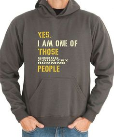 Yes I Am One Of Those Cross Country Running People by Idakoos, $36.00