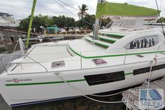 Knot Anchored Crewed Catamaran | US Virgin Islands Catamaran Charters.  Available for charter at compassyachtcharters.com