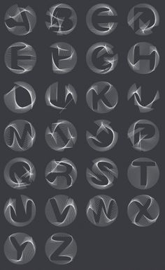 Berlin based designer's latest project features a set of movable 3D letters in Arial and Helvetica. Each letter of Buchstabengewitter is animated in the visual programming language vvvv and can be morphed into any other glyph. That way whole words can geometrically blend into each other. This generated alphabet can be adjusted to any existing form, thus his start with the 'easier' fonts aforementioned. #typography #design