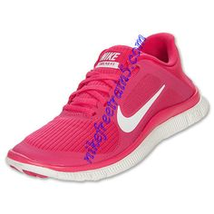 check out a80d8 45aaa Nike Free 4.0 V3 Womens Pink White 580406 610 Cheap Sneakers, Nike Shoes  Cheap,