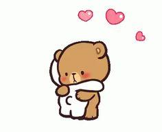 Milk And Mocha Hug GIF - MilkAndMocha Hug Cute - Discover & Share GIFs