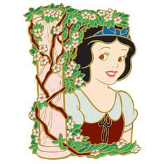 View Pin: DisneyShopping.com - Flower Portrait Series - Snow White