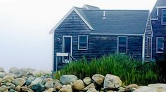 A foggy morning in Scituate Harbor. A photo graphic original by carolsutherland.com
