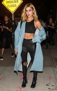 Hailey Baldwin in Unravel pants