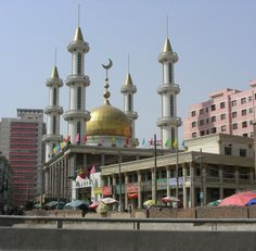 Heping Peace Mosque in Lanzhou, Ganzu province in Northwest China
