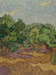 Vincent van Gogh, Olive Trees in Auvers (detail)