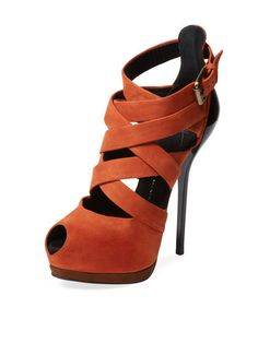 Suede Strappy Sandal by Giuseppe Zanotti at Gilt