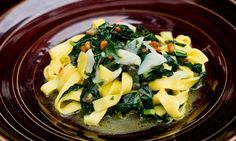 Angela Hartnett's tagliatelle with pine nuts, capers and kale recipe | Life and style | The Guardian