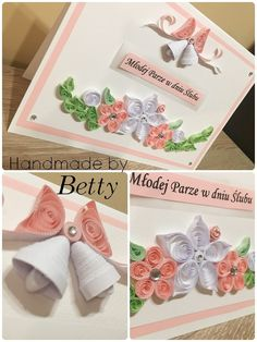 Wedding card #handmade #handmadewithlove #cards #cardmaking #cardesign #quillingart #quillingflowers #quilling #weddingcard