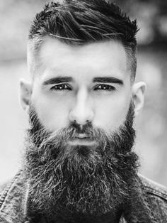 Cool and Trendy Men's Hairstyles Beard And Mustache Styles, Beard Styles For Men, Beard No Mustache, Hair And Beard Styles, Hair Styles, Great Beards, Awesome Beards, Oscar 2017, Sexy Beard