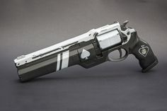 The Ace of Spades is one of our largest hand cannons to date with a final length of 17 inches. Description from impactcustoms.com. I searched for this on bing.com/images