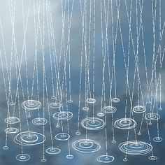 ♒ Enchanting Embroidery ♒ embroidered rain & puddles