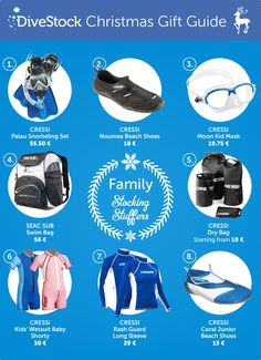 Divestock's first holiday gift guide presents the perfect diving vacation package for the whole family! Which product do you wish for? Comment below. And feel free to share this as a subtle hint ; Christmas Gift Guide, Holiday Gifts, Family Vacation Packages, Mask For Kids, Stocking Stuffers, Diving, Presents, Blog